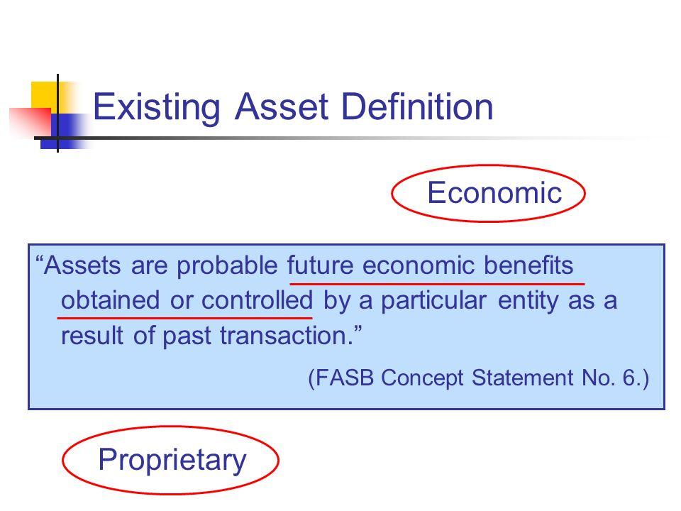 Existing Asset Definition
