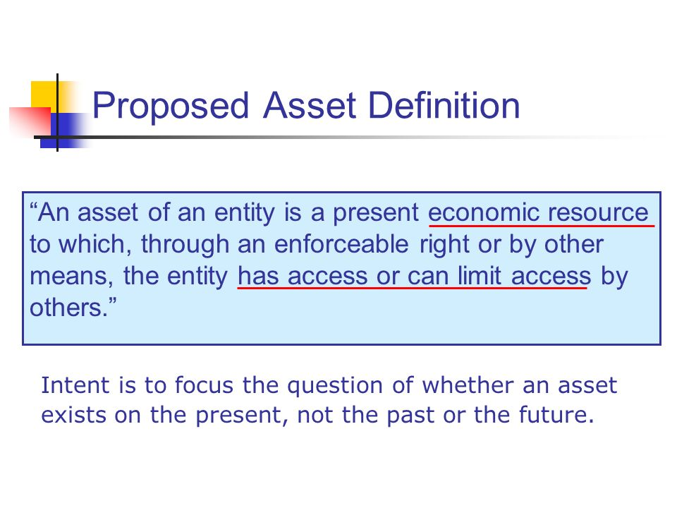 Proposed Asset Definition