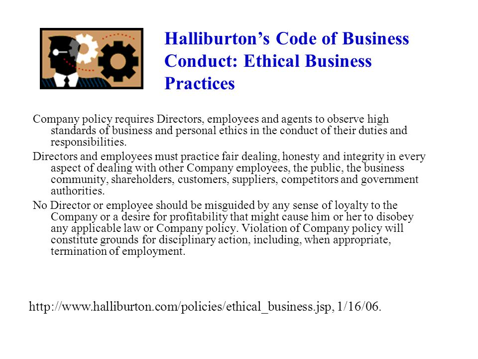 Halliburton's Code of Business Conduct: Ethical Business Practices