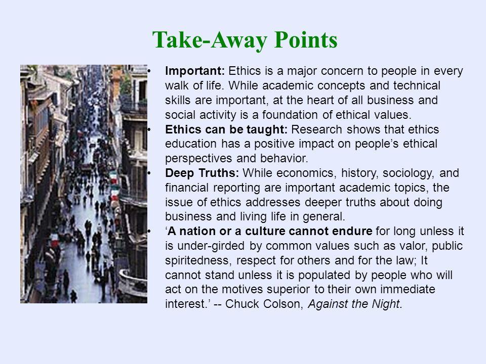 Take-Away Points