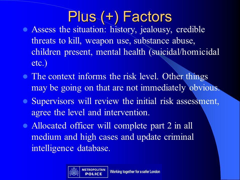 Plus (+) Factors