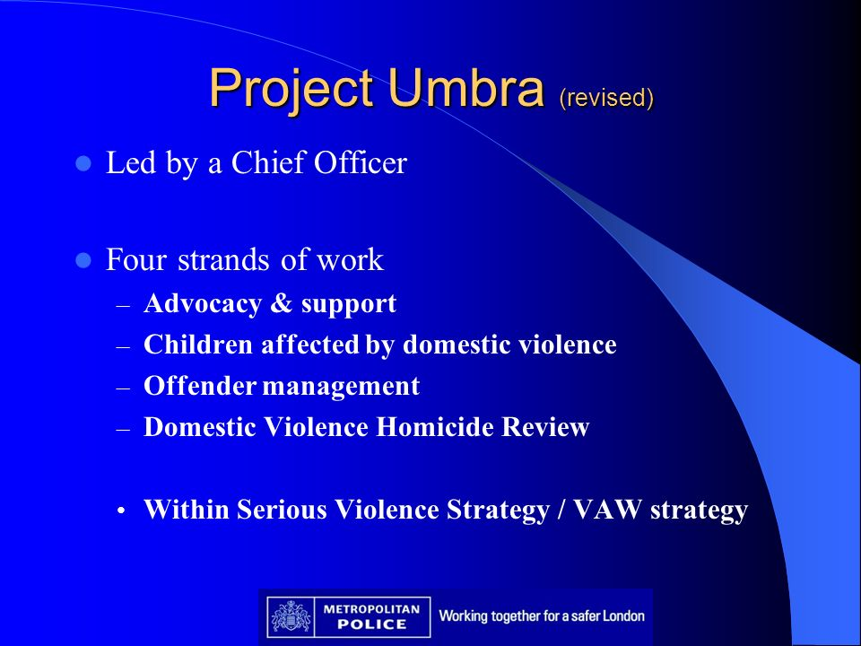Project Umbra (revised)