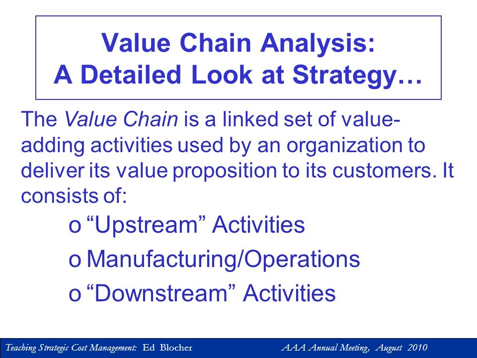 Value Chain Analysis: A Detailed Look at Strategy…