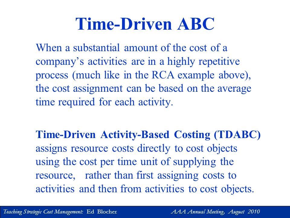 Time-Driven ABC