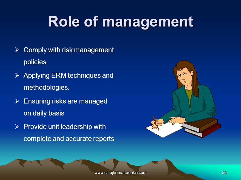 role of management The directorate for management is responsible for budget, appropriations, expenditure of funds, accounting and finance procurement human resources and personnel information technology systems facilities, property, equipment, and other material resources and identification and tracking of performance measurements relating to the.