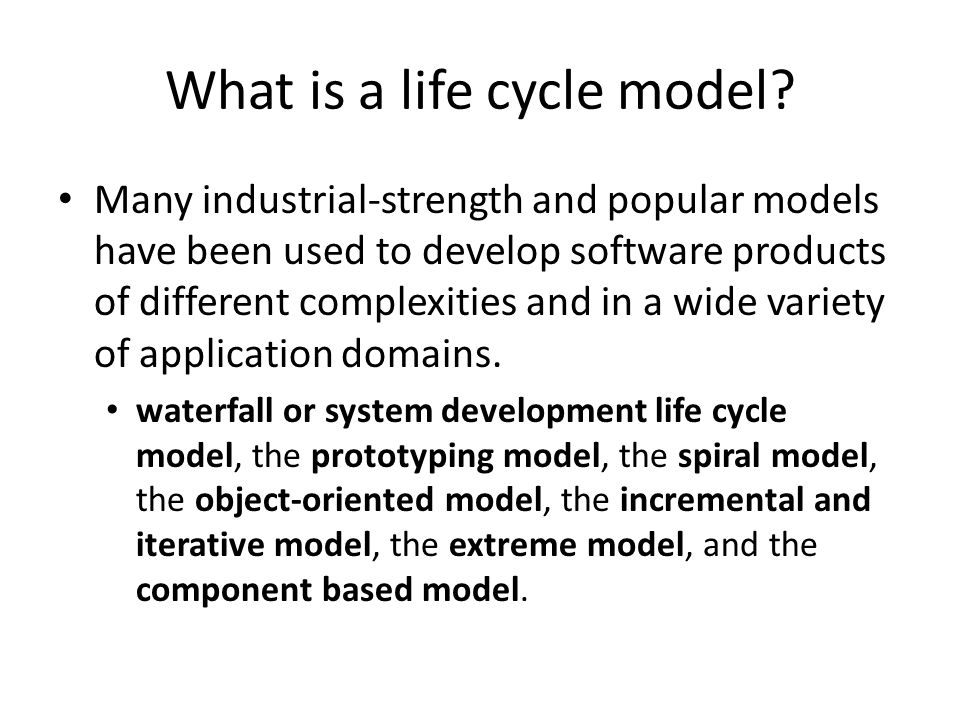 What is a life cycle model ppt video online download for System development life cycle waterfall model