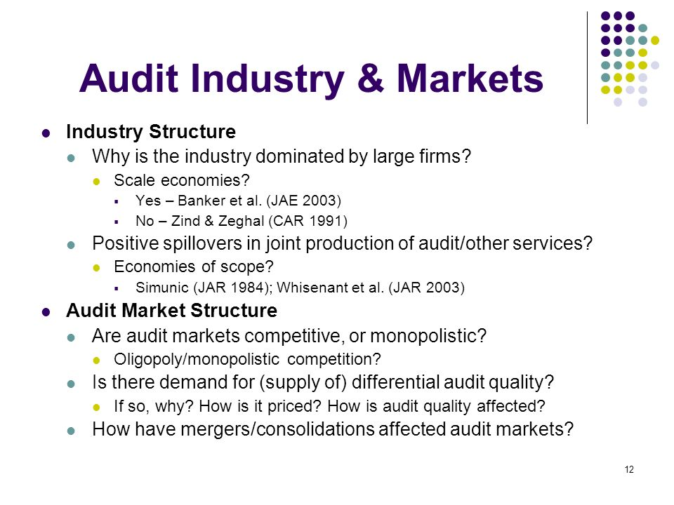 Audit Industry & Markets