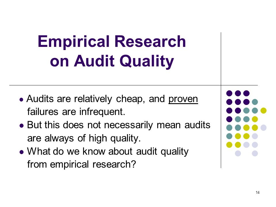 Empirical Research on Audit Quality