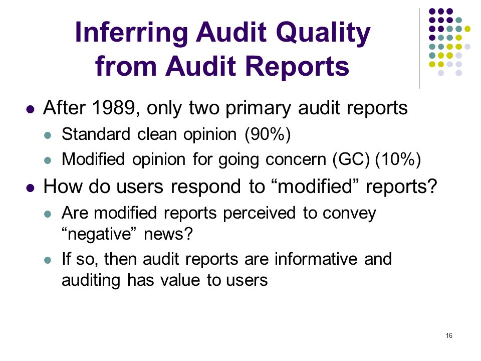 Inferring Audit Quality from Audit Reports