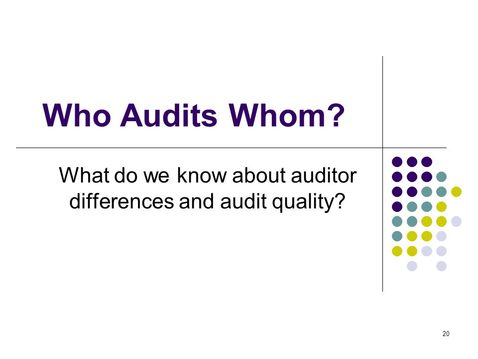 What do we know about auditor differences and audit quality
