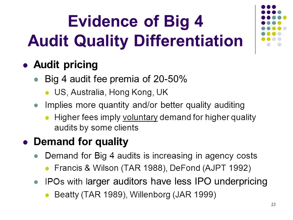 Evidence of Big 4 Audit Quality Differentiation