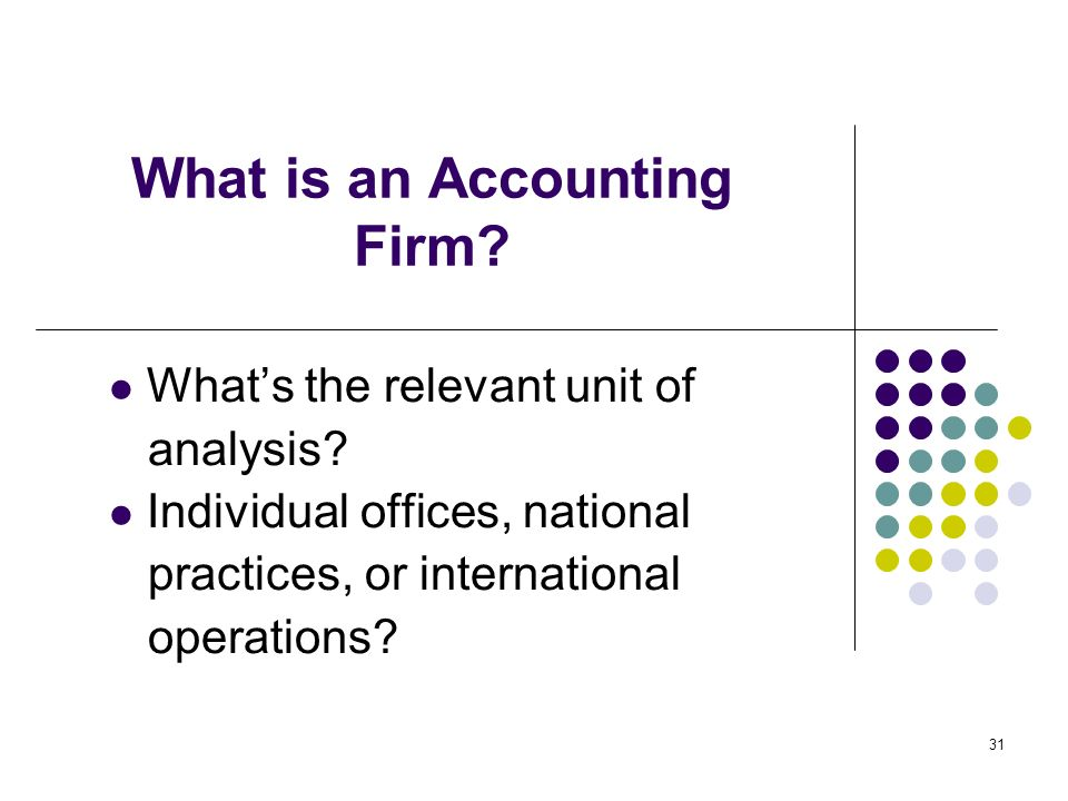 What is an Accounting Firm