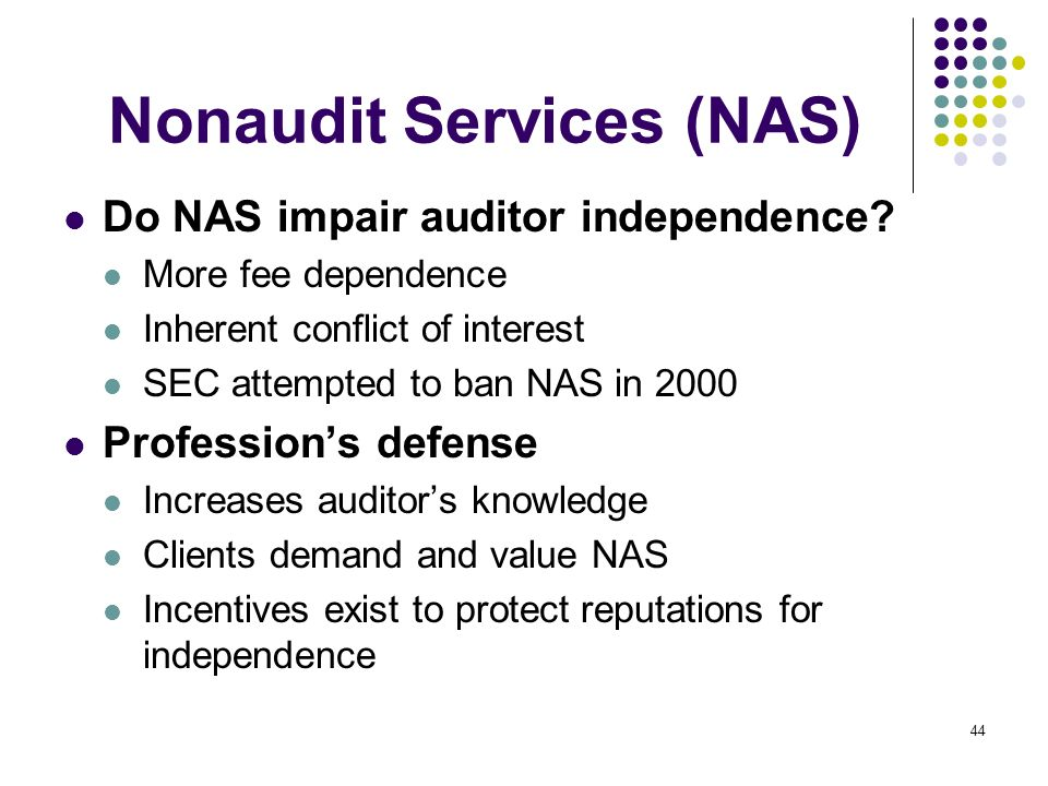 Nonaudit Services (NAS)