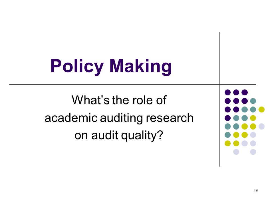 What's the role of academic auditing research on audit quality