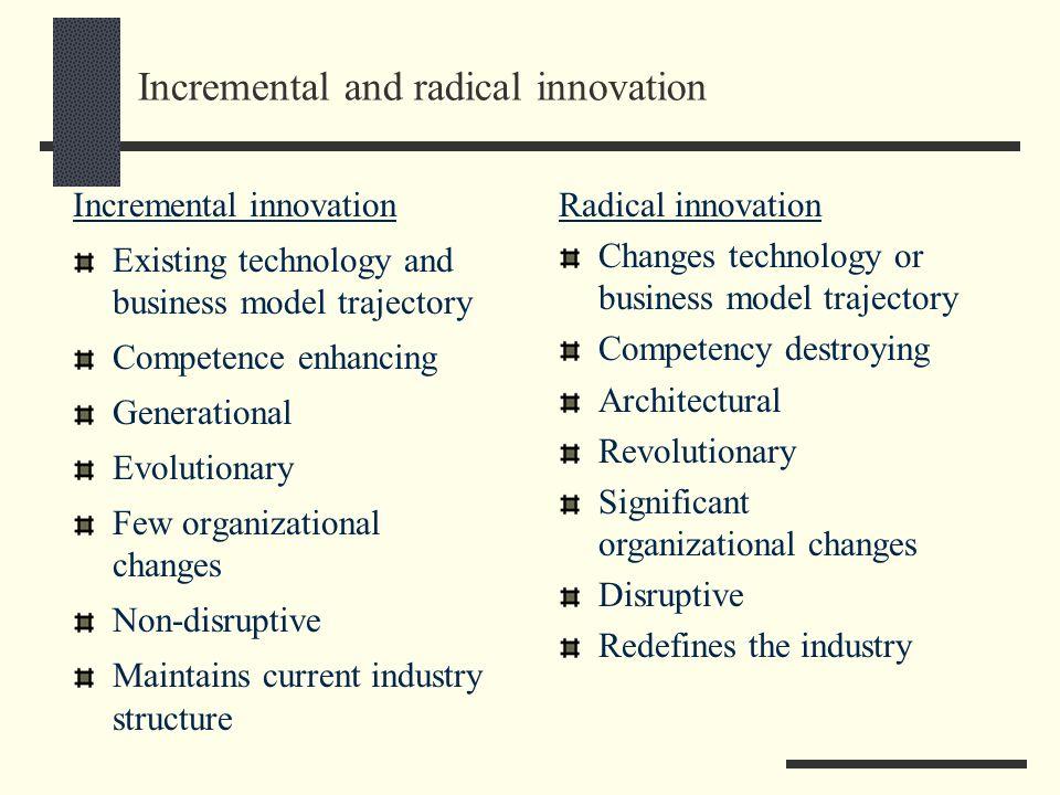 Incremental and radical innovation