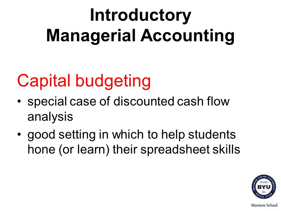 Introductory Managerial Accounting