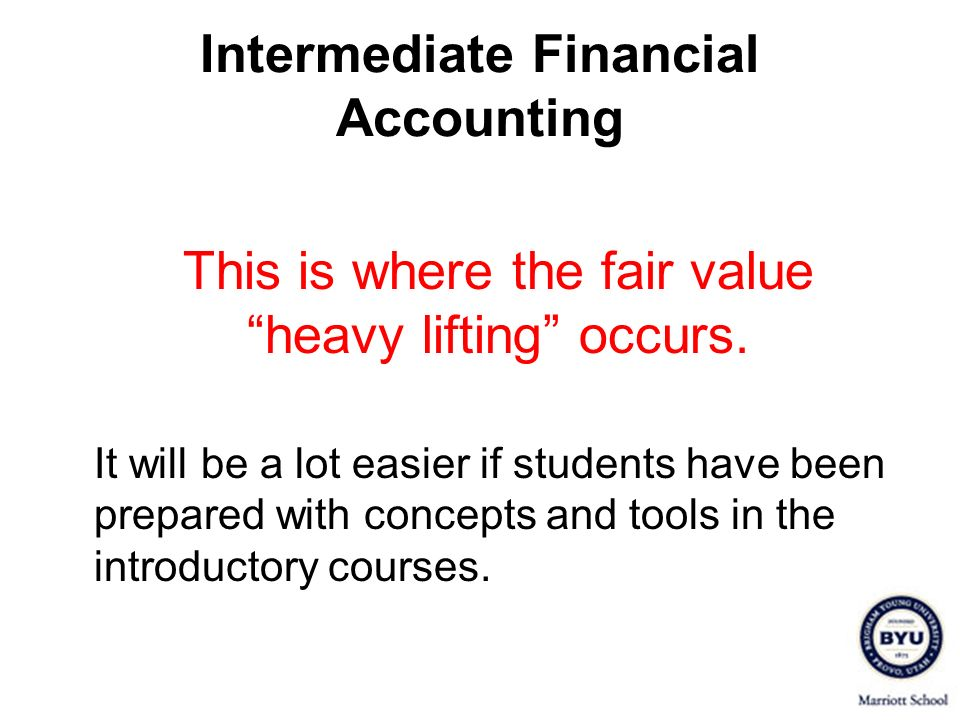 Intermediate Financial Accounting
