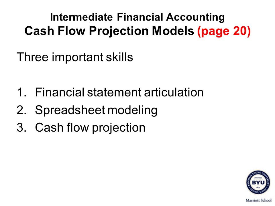 Three important skills Financial statement articulation