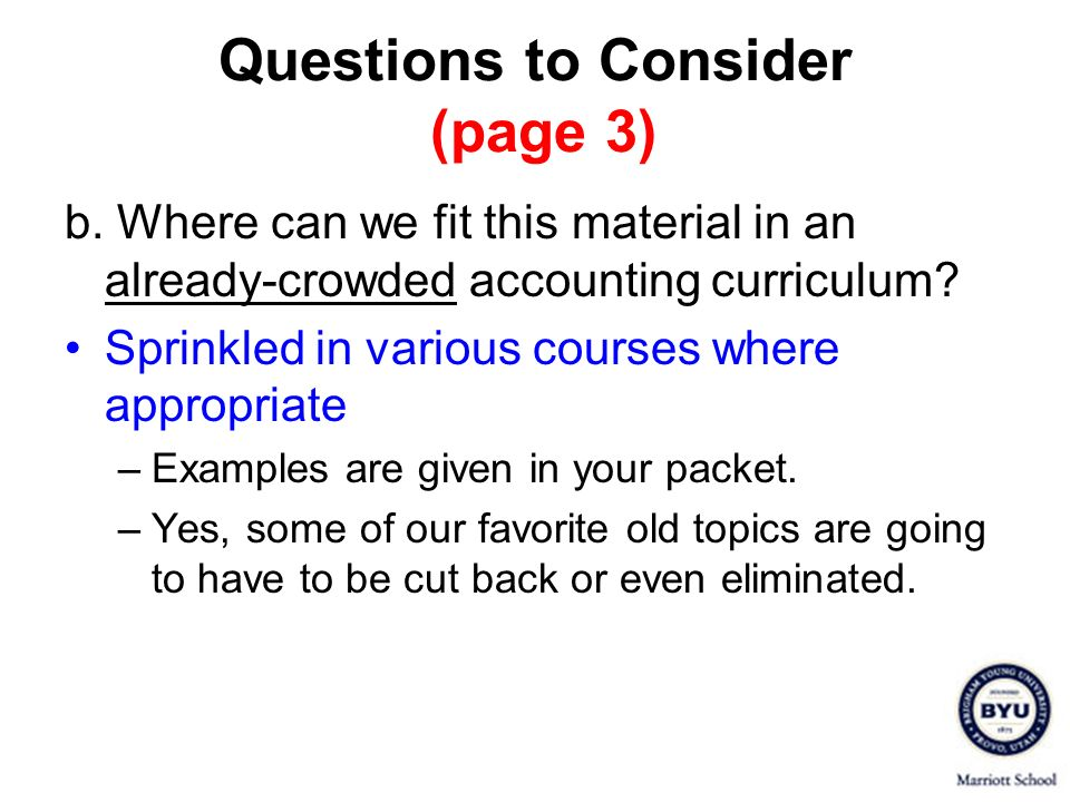 Questions to Consider (page 3)