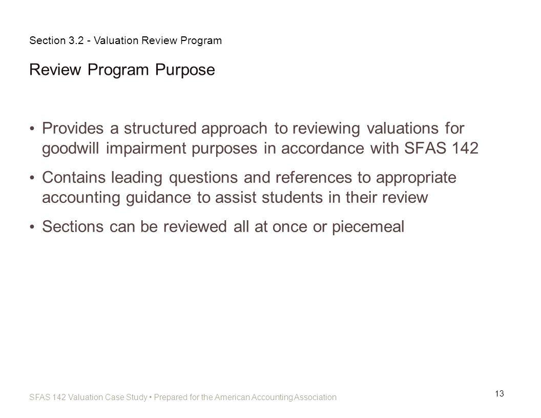 Review Program Purpose