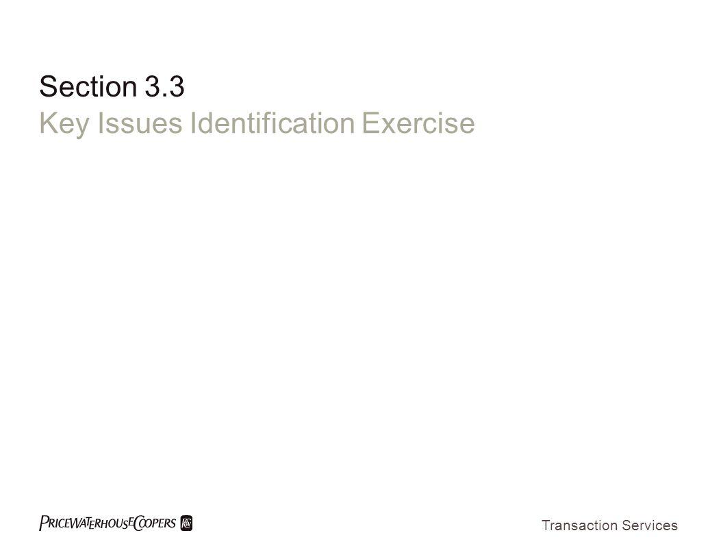 Key Issues Identification Exercise
