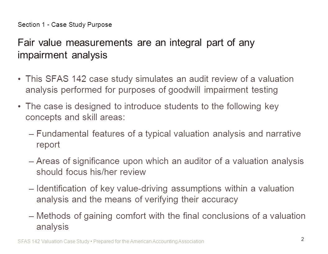 Section 1 - Case Study Purpose