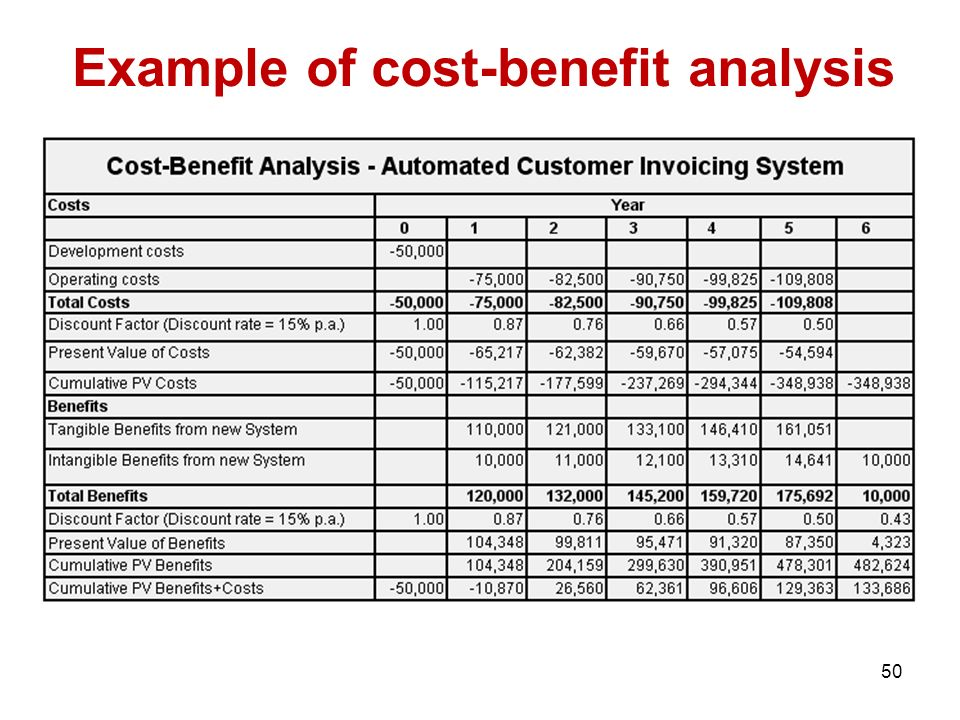 example of cost benefit analysis template project management principles ppt video online download
