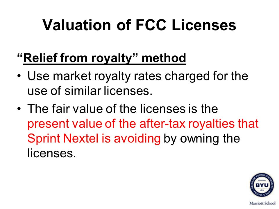 Valuation of FCC Licenses
