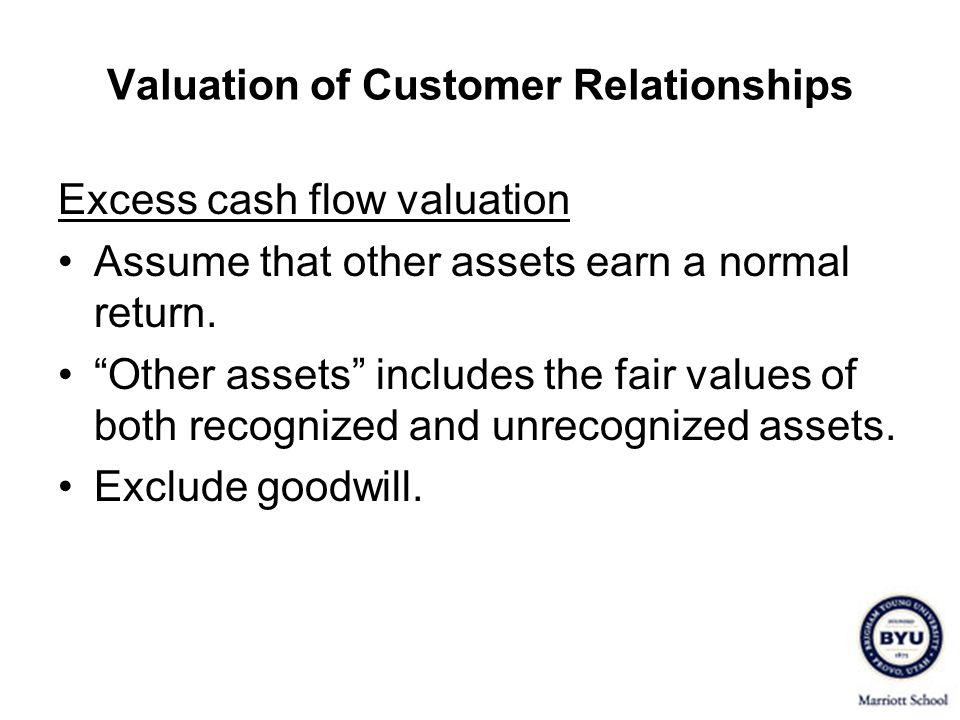 Valuation of Customer Relationships