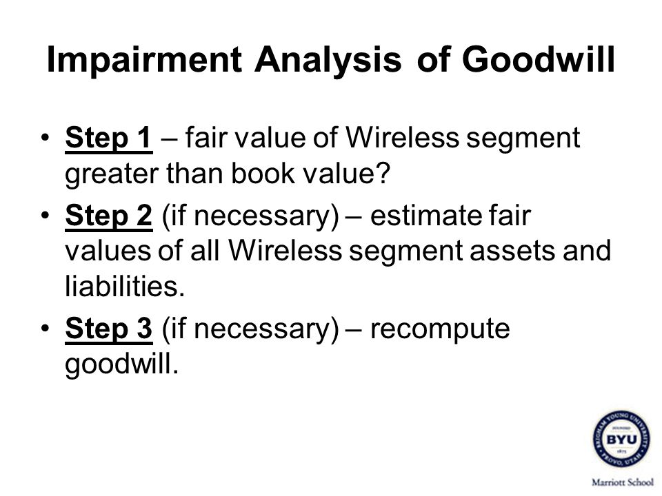 Impairment Analysis of Goodwill