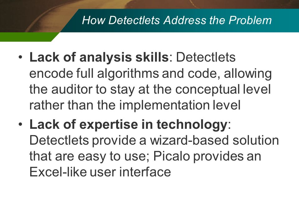 How Detectlets Address the Problem