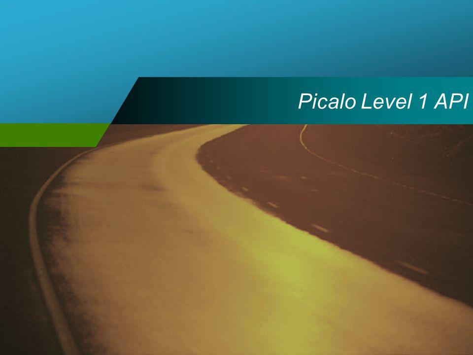 Picalo Level 1 API