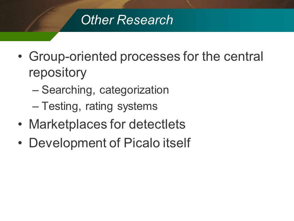 Group-oriented processes for the central repository