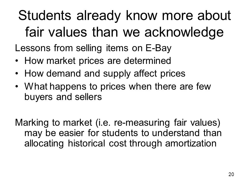 Students already know more about fair values than we acknowledge