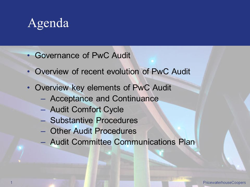 Agenda Governance of PwC Audit
