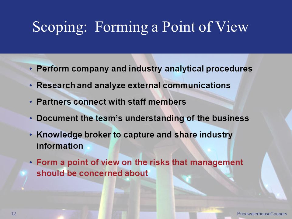 Scoping: Forming a Point of View