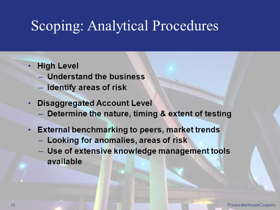Scoping: Analytical Procedures