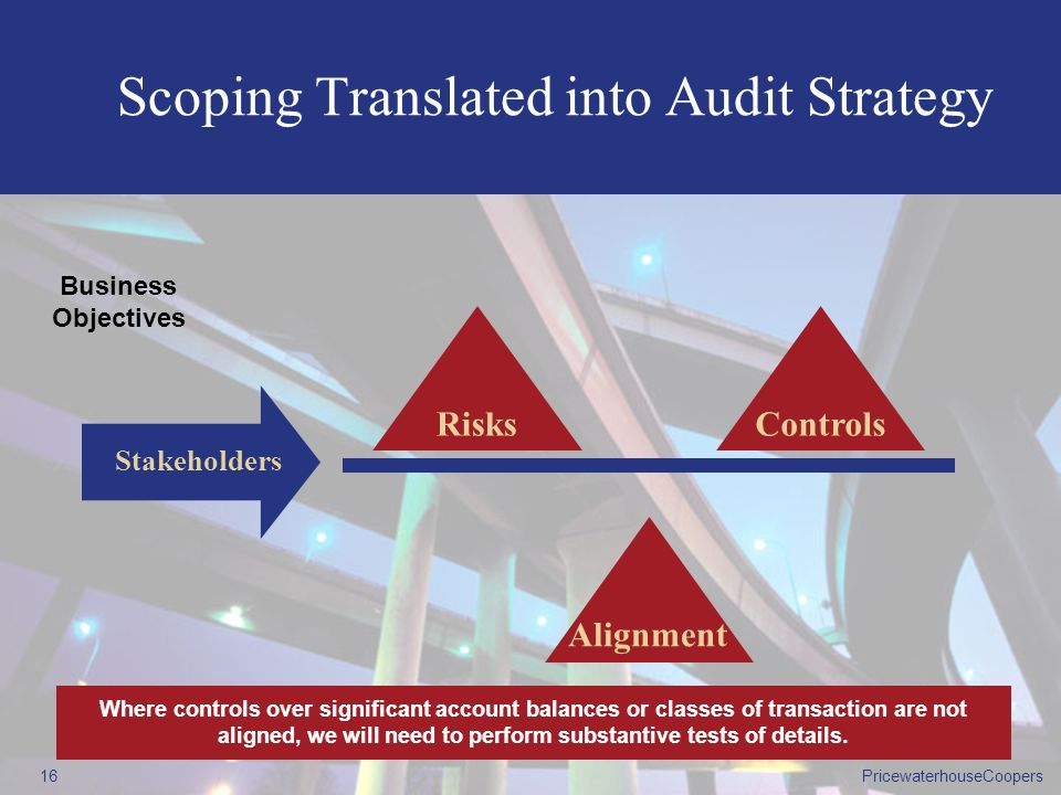 Scoping Translated into Audit Strategy