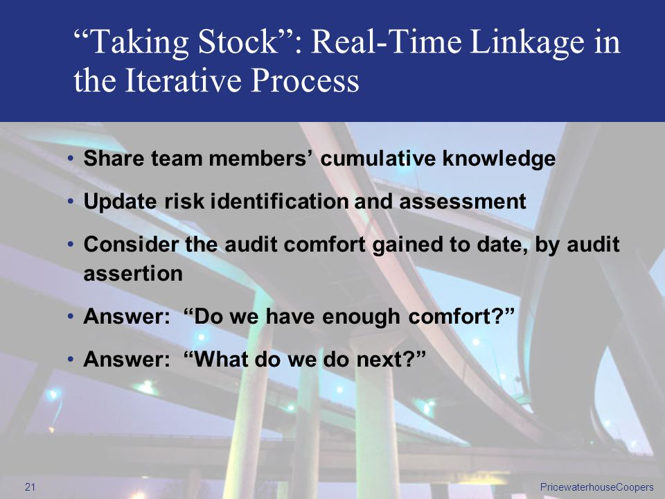 Taking Stock : Real-Time Linkage in the Iterative Process