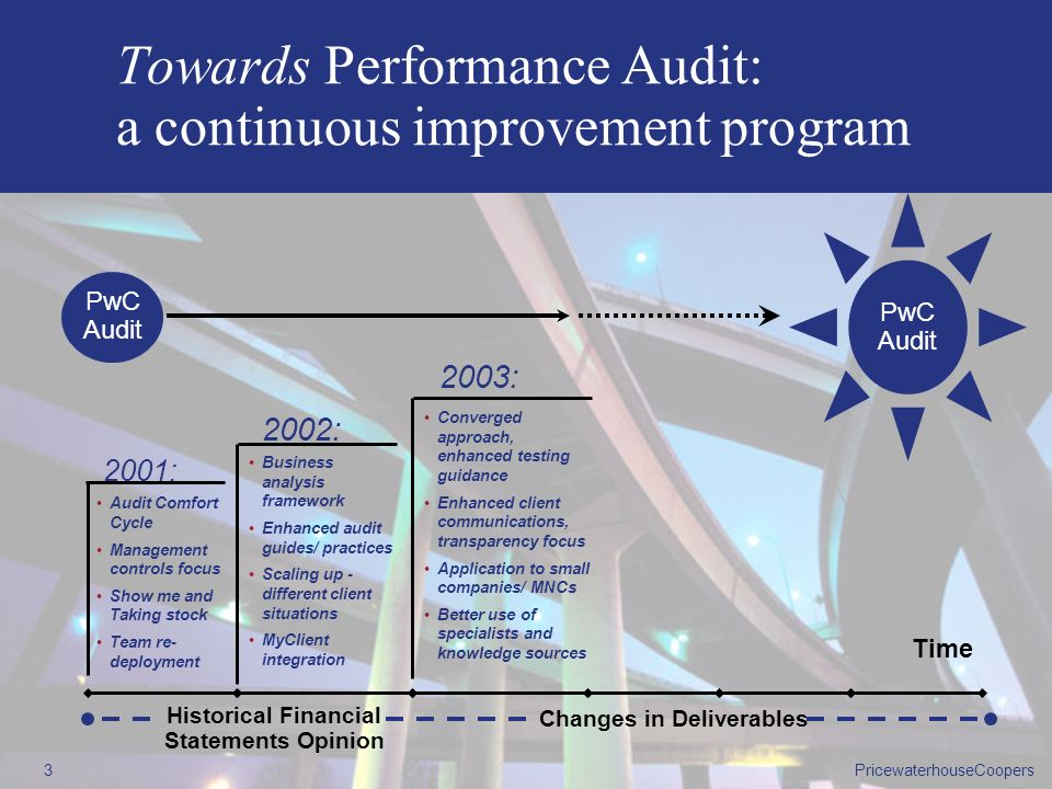 Towards Performance Audit: a continuous improvement program