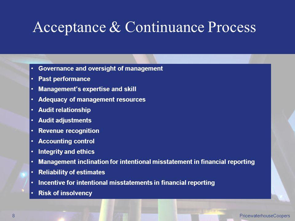 Acceptance & Continuance Process