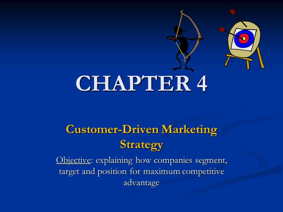 customer driven marketing strategy I believe that customer driven marketing strategy is a strategy that was built based on consumer insights supported by proper research (qualitative and.