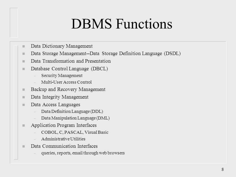 dbms languages Dbms - database languages - dbms database languages - dbms video tutorials - introduction, database system applications, database system versus file system, data .