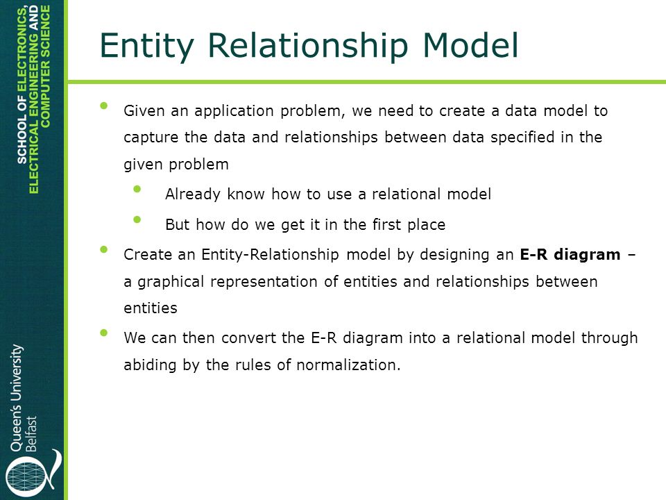 entity relationship modelling and normalization in dbms