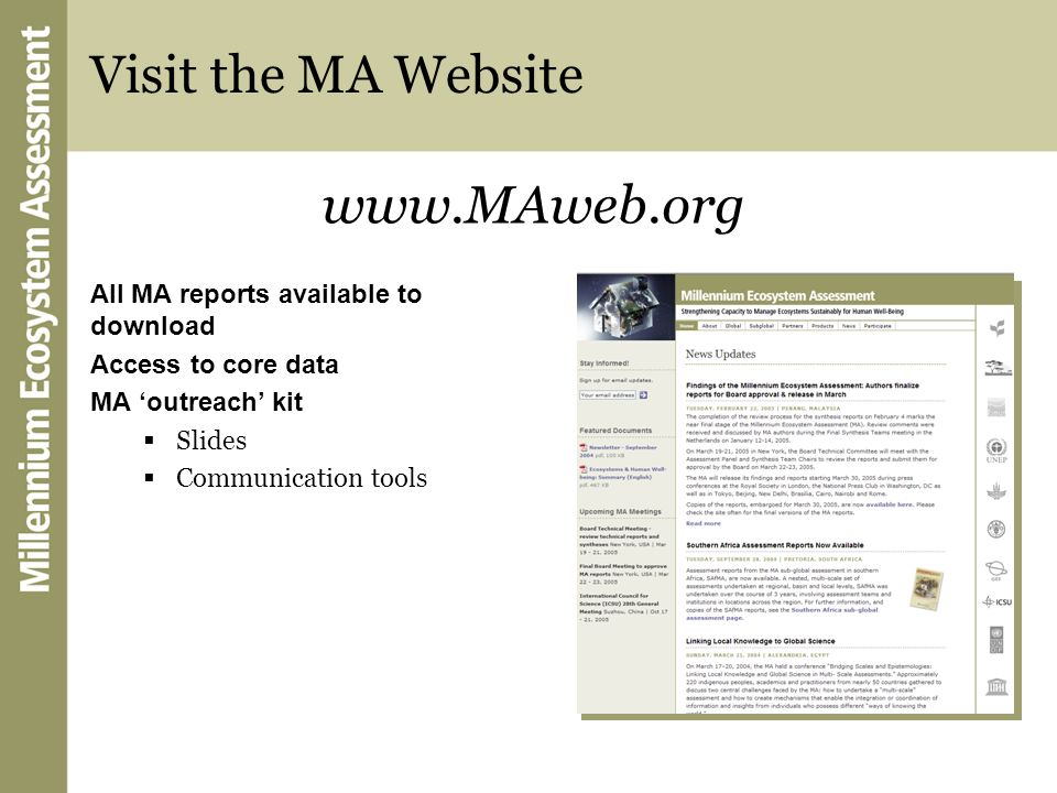 Visit the MA Website www.MAweb.org