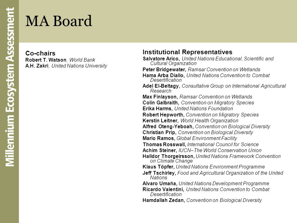 MA Board Institutional Representatives Co-chairs