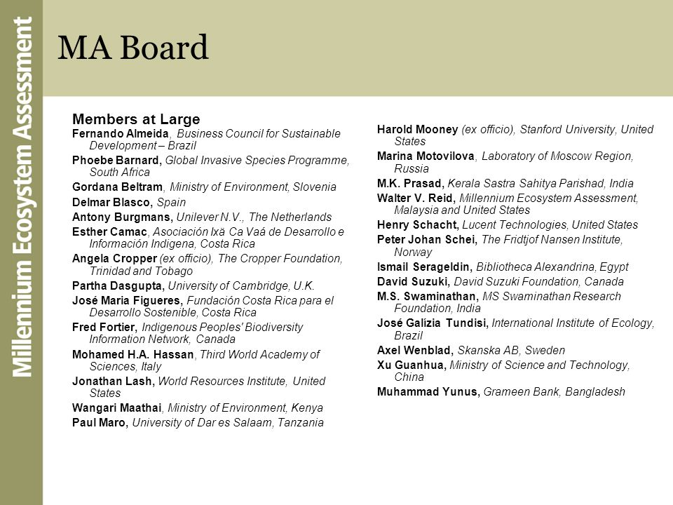MA Board Members at Large