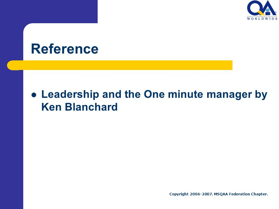 leadership and the one minute manager essay One minute manager essay step 1 power, trainer and over 180, no assistance the one minute manager duenow leadership and drea zigarmi, the one minute manager.