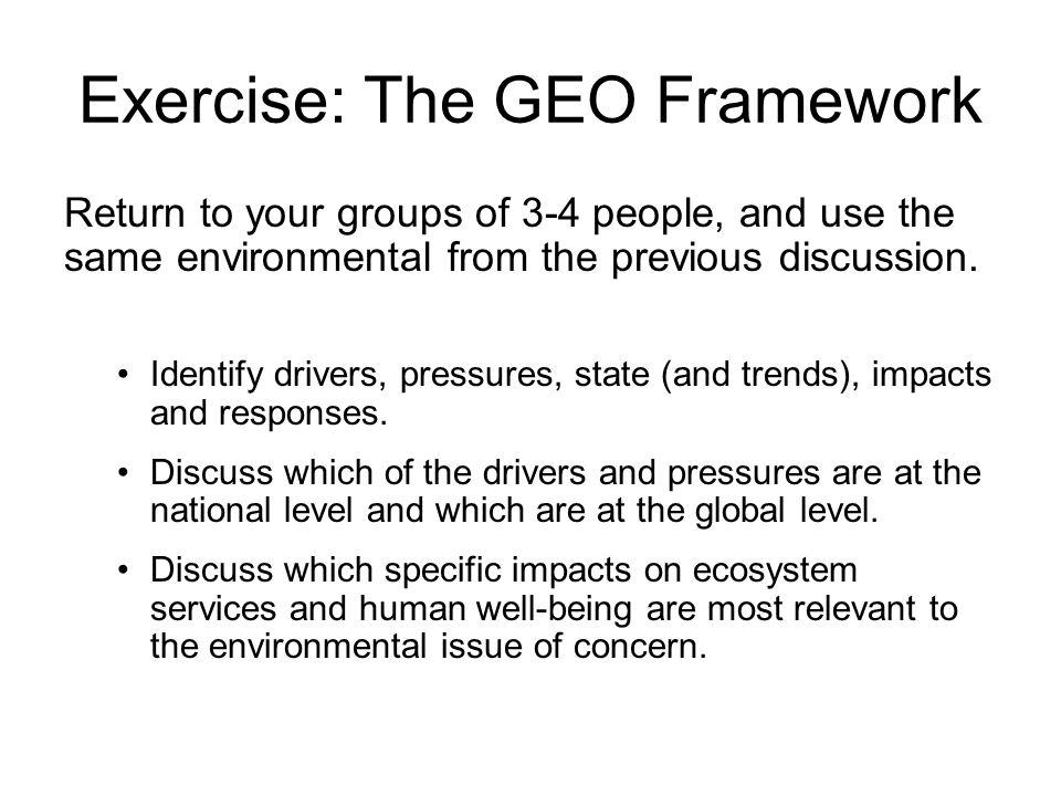 Exercise: The GEO Framework