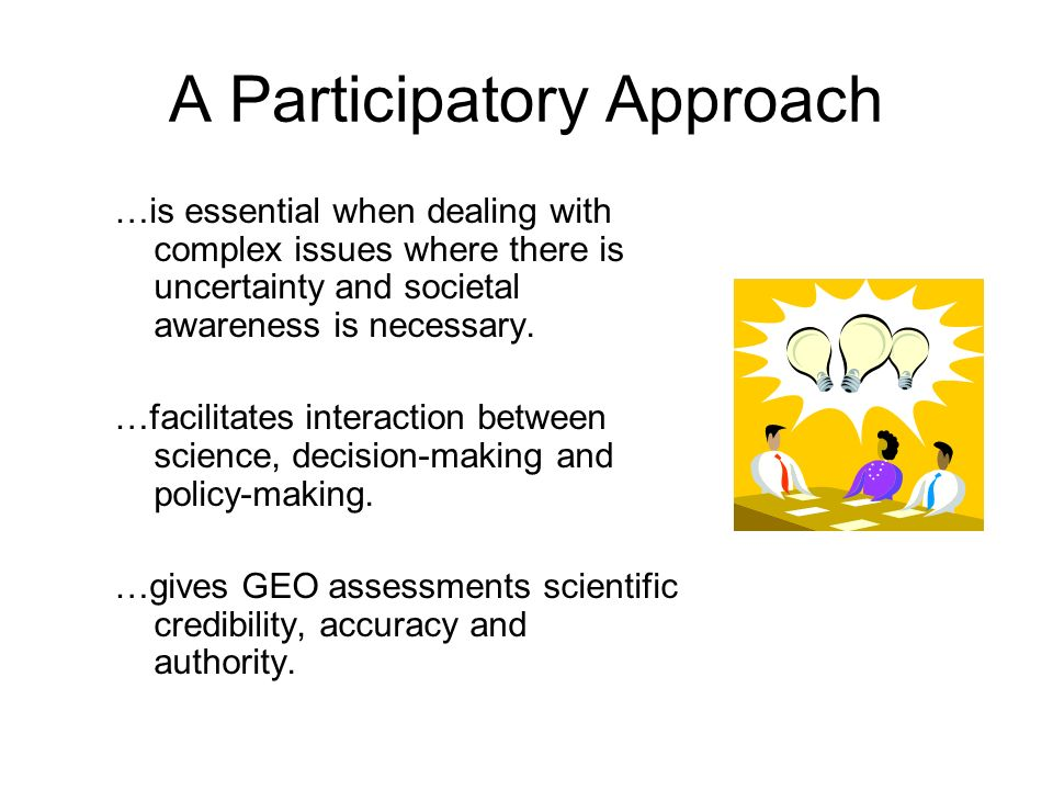 A Participatory Approach